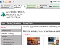 Librería  arquitectura, urbanismo y jardinería on-line