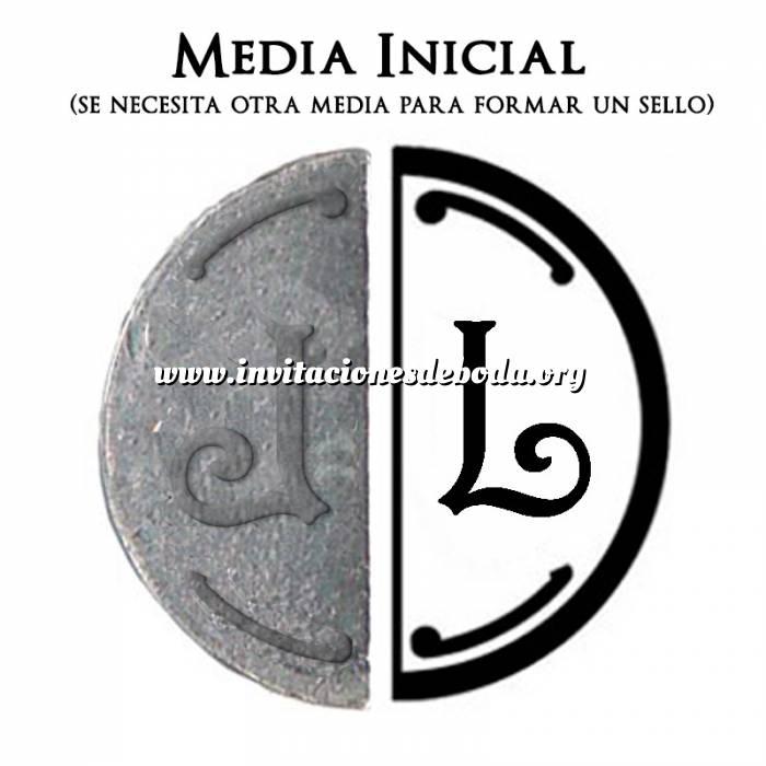 Imagen 2 Iniciales Intercambiables Placa Media Inicial L para sello vacío de lacre