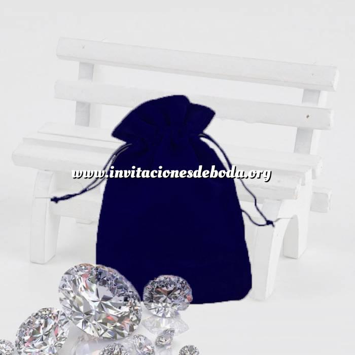 Imagen Bolsa de Antelina 9X12 Bolsa de Antelina Azul 9x12 capacidad 9x9 cms