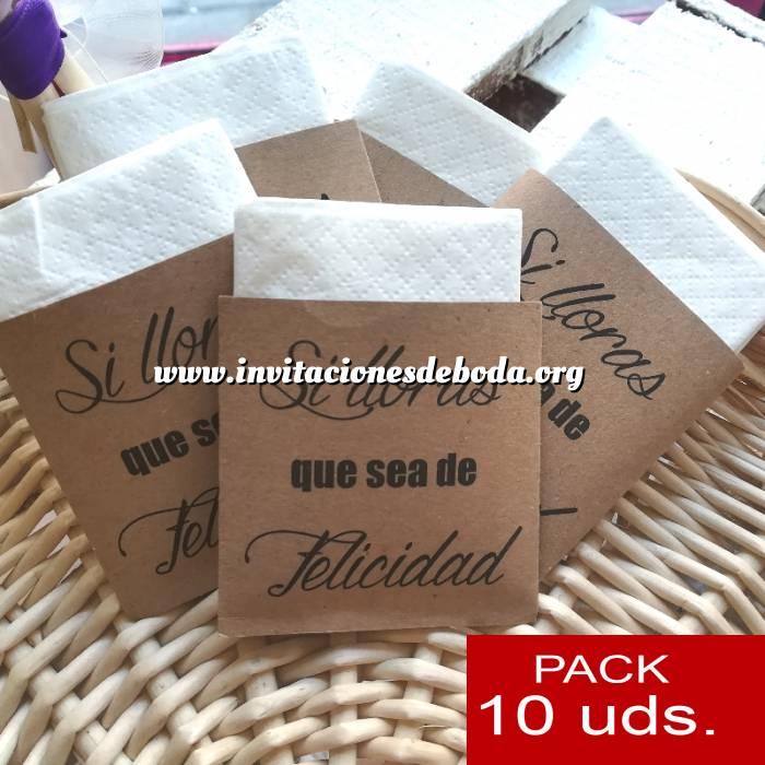 Imagen Detalles para la ceremonia Pañuelos PACK DE 10 - (Sobre-Kraft) Si lloras que sea de felicidad