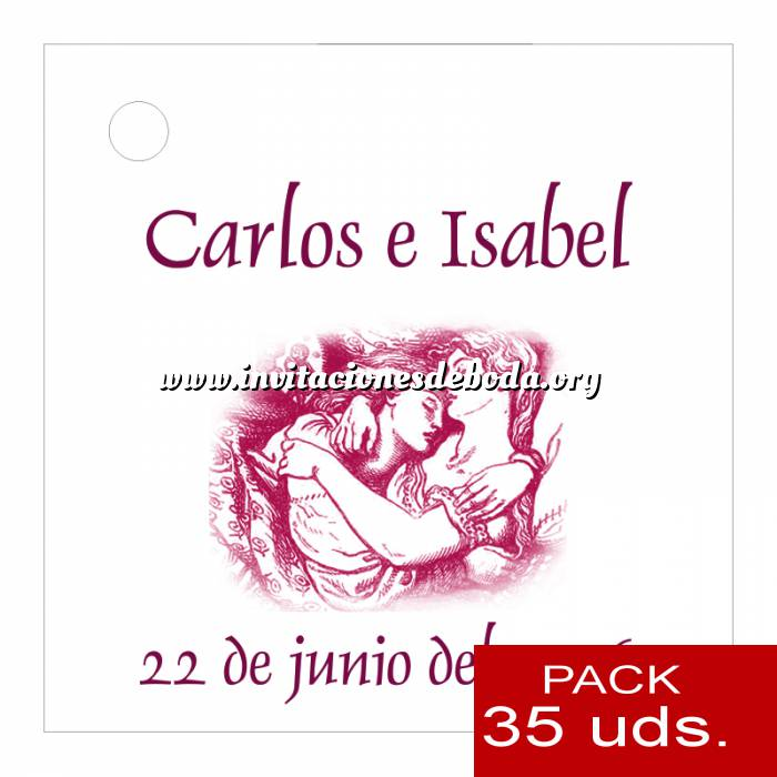 Imagen Etiquetas personalizadas Etiqueta Modelo A09 (Paquete de 35 etiquetas 4x4)