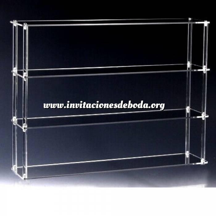 Imagen Mini Perfume Estantería Metacrilato 4 baldas- transparente- listo para montar- ideal coleccionistas (duplicado) (duplicado)