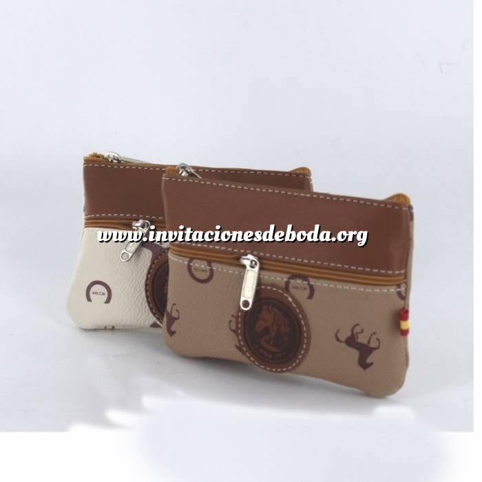Imagen Monederos y estuches Monedero de Ubrique - Caballos - 2 cremalleras (tonos surtidos)