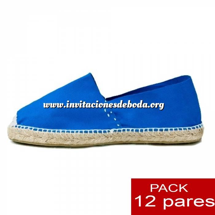 Imagen Mujer Cerradas Alpargatas cerradas MUJER color azul Royal - caja 12 pares