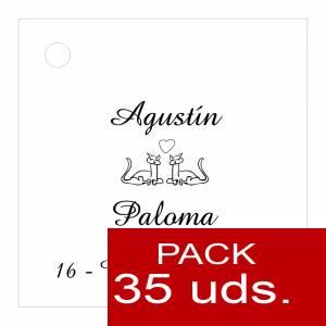 Etiquetas impresas - Etiqueta Modelo C04 (Paquete de 35 etiquetas 4x4)