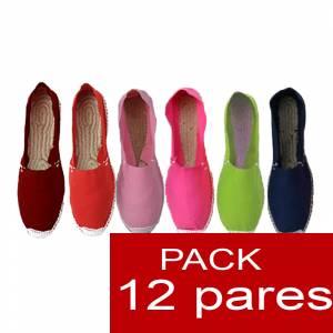 Mujer Cerradas - Alpargatas cerradas Boda Surtidas en colores y tallas - caja de 12 pares