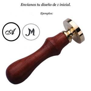 Personalizado Con TU diseño - Sello Lacre 3.5 cms con tu diseño De 1 inicial