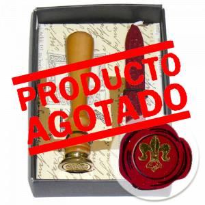 Símbolos - Sello lacre Especial Flor de Lis (Sello mango largo más barrita de mecha)