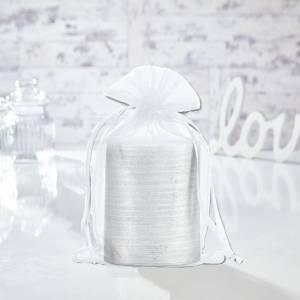 Tama�o 15.5x24 cms. - Bolsa de organza Blanca 15,5x24 capacidad 15x20 cms.