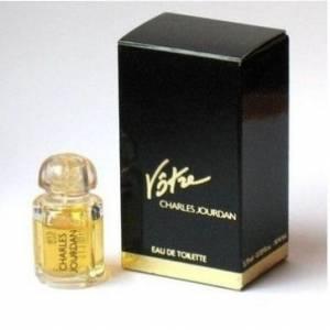 -Mini Perfumes Mujer - Votre Eau de Toilette by Charles Jourdan 3.75ml. CAJA DORADA Y AZUL (Últimas Unidades)